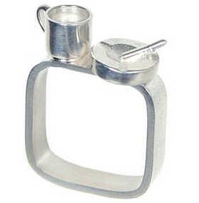 """кольцо """"кофе и сигареты"""", серебро"""