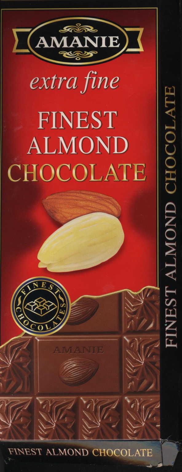 AMANIE / extra fine / Finest Almond Chocolate / Миндальный шоколад