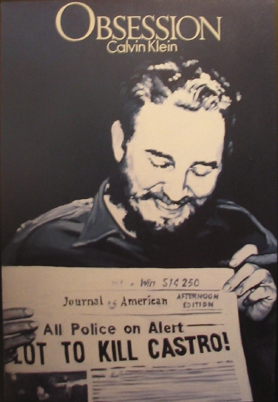 Фидель Кастро карикатура постер