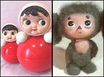 Чебурашка и кукла Ванька-встанька