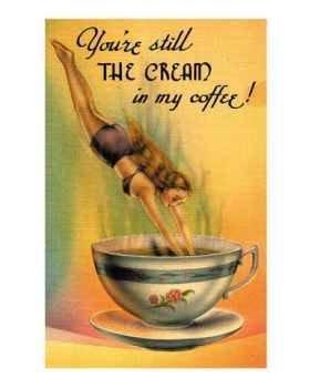 сливки в кофе, постер \ poster Cream in my Coffee