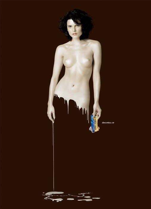 рекламный постер шоколад Derreta