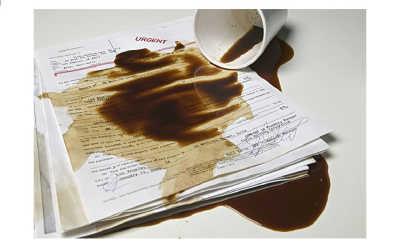 разлитый кофе