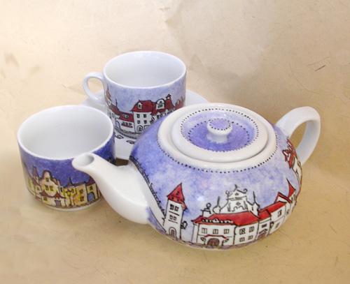 Ручная роспись чайной посуды