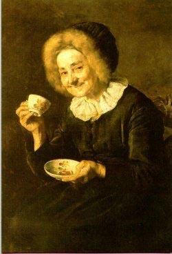 """И. Кобильч, """"Пьющая кофе"""" \ """"Kofetarica"""""""