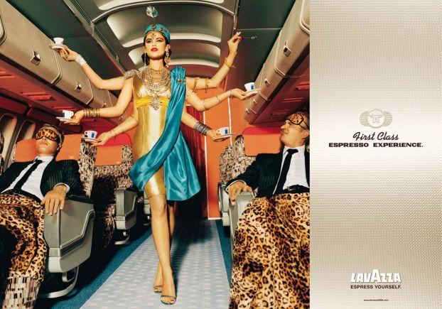 рекламный постер для Lavazza espresso coffee