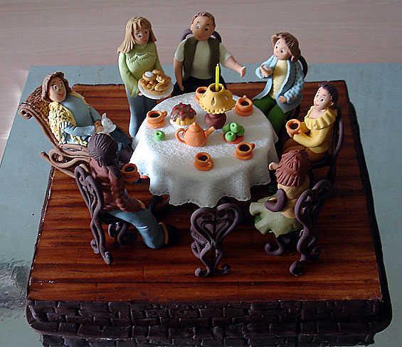 """авторский торт """"Семейное чаепитие"""""""