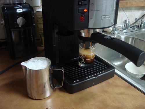 молочная пенка на кофе