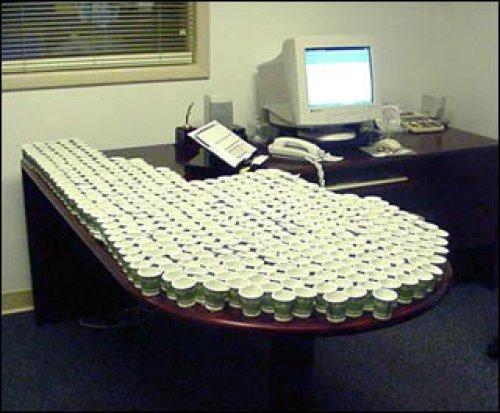 офисный прикол с кофе