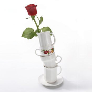 ваза из кофейных чашек / Японский дизайнер Ototo
