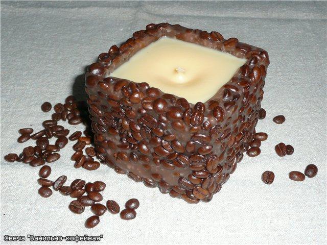 """самодельная свеча """"кофе и ваниль"""""""