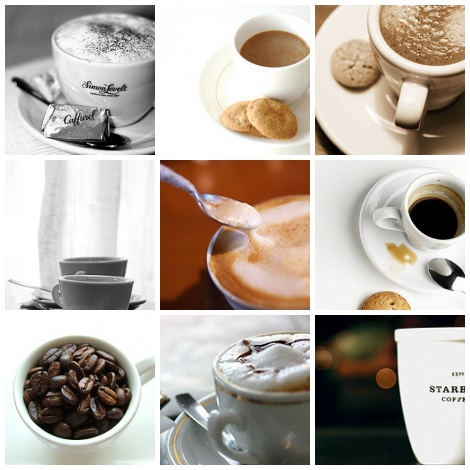 картинки кофе - коллаж