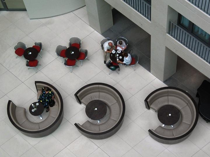 дизайн кафе (снимок сверху)