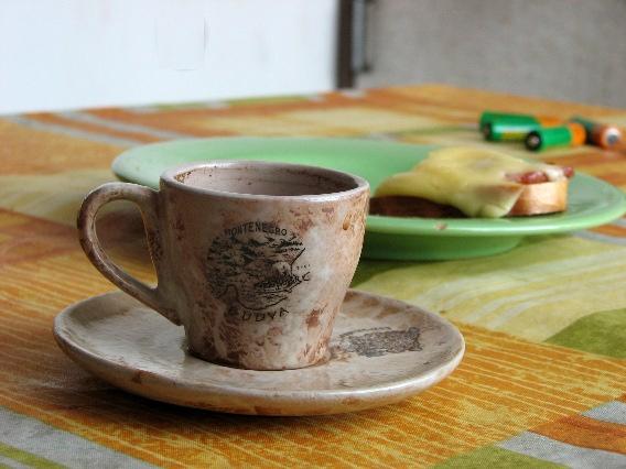 любимая старая кофейная чашка