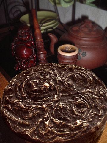 """домашнее мыло своими руками """"Шоколад и золото"""""""