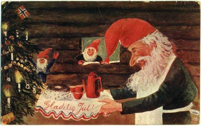Санта Клаус, Норвегия / старинная открытка