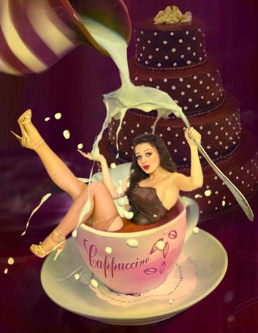 lady cappuccino / девушка капучино (Автор Наталья Перегудова)