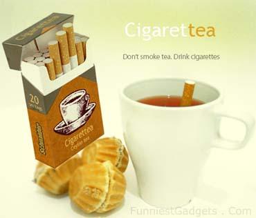 чайный пакетик в виде сигареты