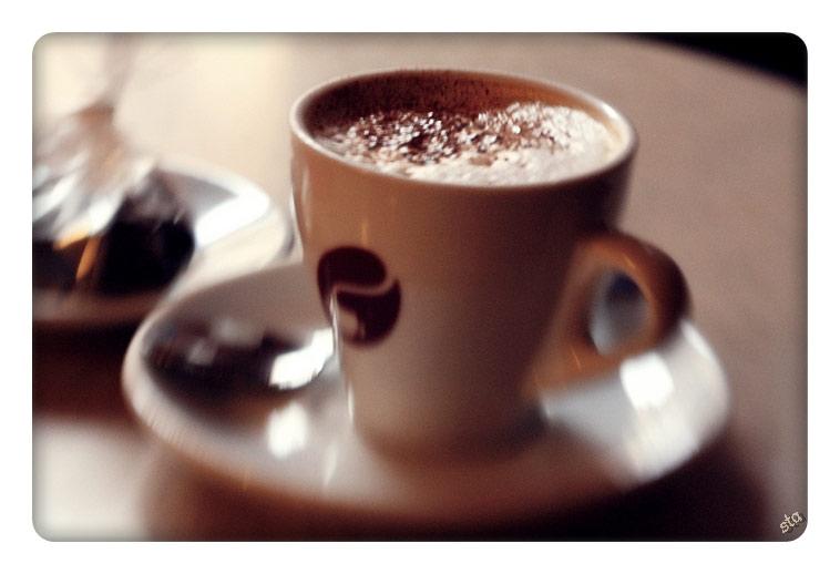 тающая пенка в кофе