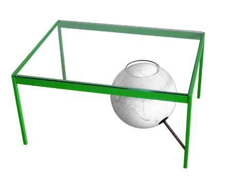 дизайнерский кофейный столик с глобусом