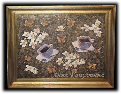 панно с орхидеями / Анна Капустина