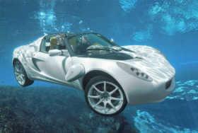 автомобиль амфибия под водой