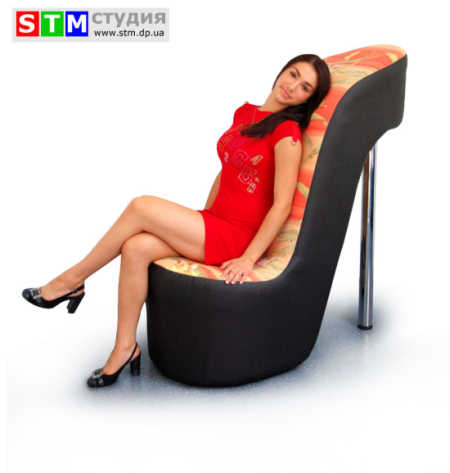 """мягкое кресло """"Туфелька"""" / необычная мебель для кафе"""