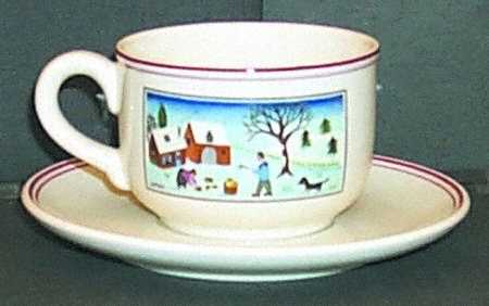 чашка с блюдцем для кофе на Рождество