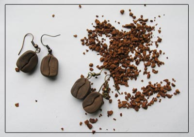 кофе со сливками / серьги