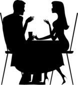 двое влюбленных в кафе