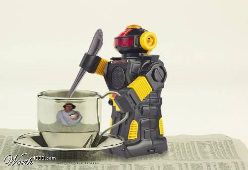 Робот для чашки кофе