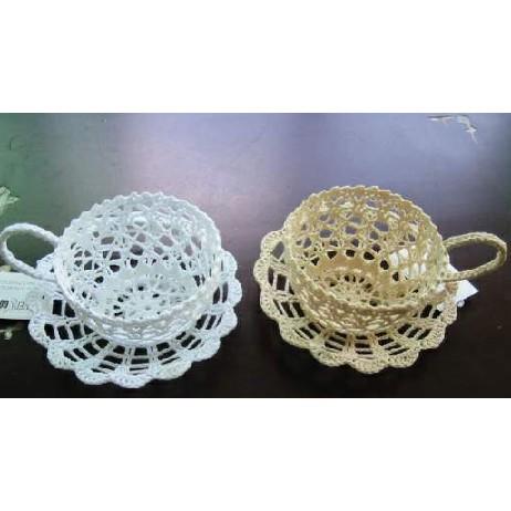 кофейные чашки, связанные крючком
