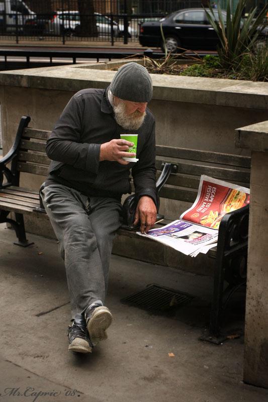 утренний кофе лондонского бомжа