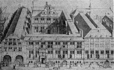 Дом Ост-Индской компании в Амстердаме. Гравюра середины XVII в.