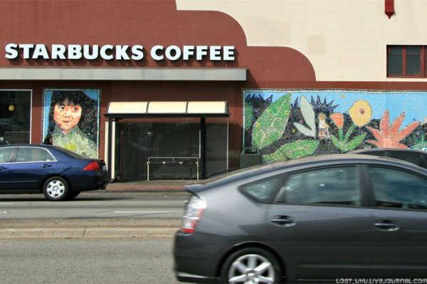 кофейня Starbucks coffee в Сан-Франциско