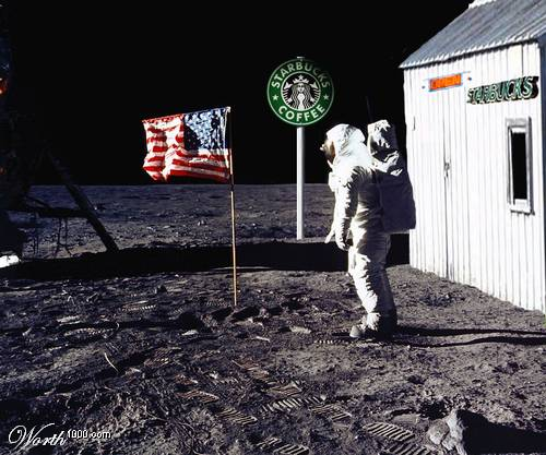 Кофейня Starbucks на Луне