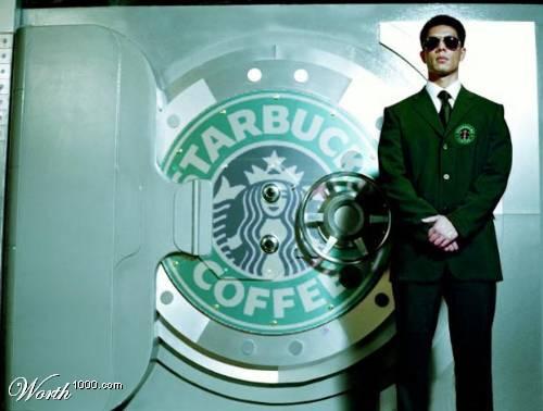 кофейный банк Starbucks / постер