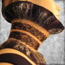 French Vanilla из войлока / шарф ручной работы