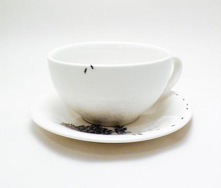 муравьи в чашке кофе - дизайнерская посуда