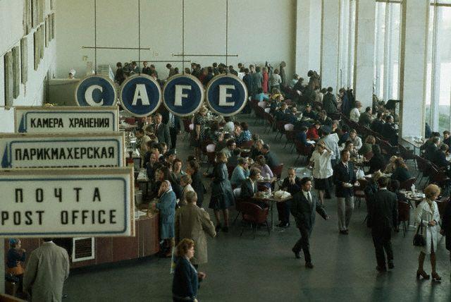 Кафе в Шереметьево-1, 1975 год, эпоха СССР.
