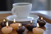 candles and cup of coffee | свечи и кофе