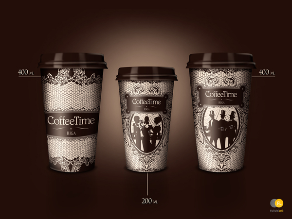 Дизайн для кофейни Coffee Time в Риге (Латвия)