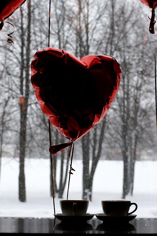 День Святого Валентина в кафе