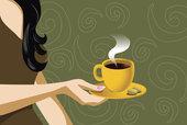 Чашка с кофе в руке