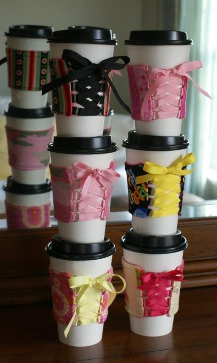 Декоративное украшение ручной работы для стаканчика кофе