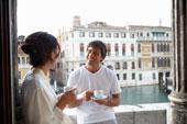Выпить кофе в Венеции