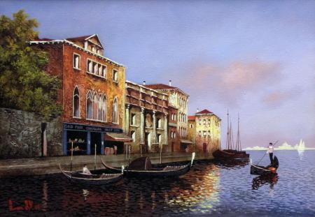 Улица Венеции, художник Алексей Алексеев.