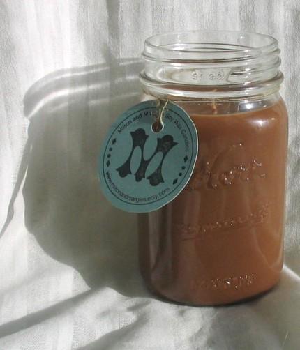 кофейная свеча на основе воска сои - свечи своими руками