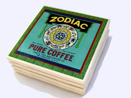 Кафе Зодиак - подставки под чашки