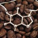 Молекула кофеина - ювелирное серебряное украшение
